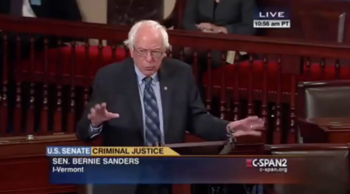 Bernie SLAMS Marijuana Arrests On Senate Floor